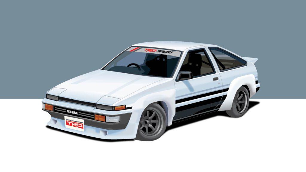 Toyota AE86 TRD vector illustration