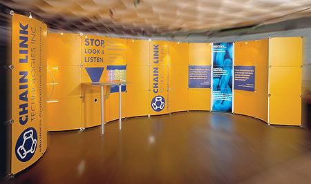 Modular stand design for Chain Link Technologies
