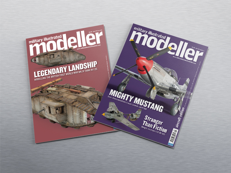 Cover designs for Military Illustrated Modeller Magazine