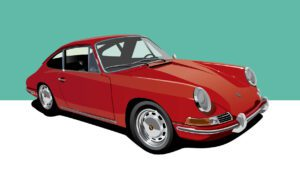 1964 Porsche 911 vector illustration