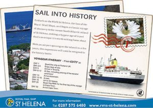 Press advert for RMS St Helena cruises