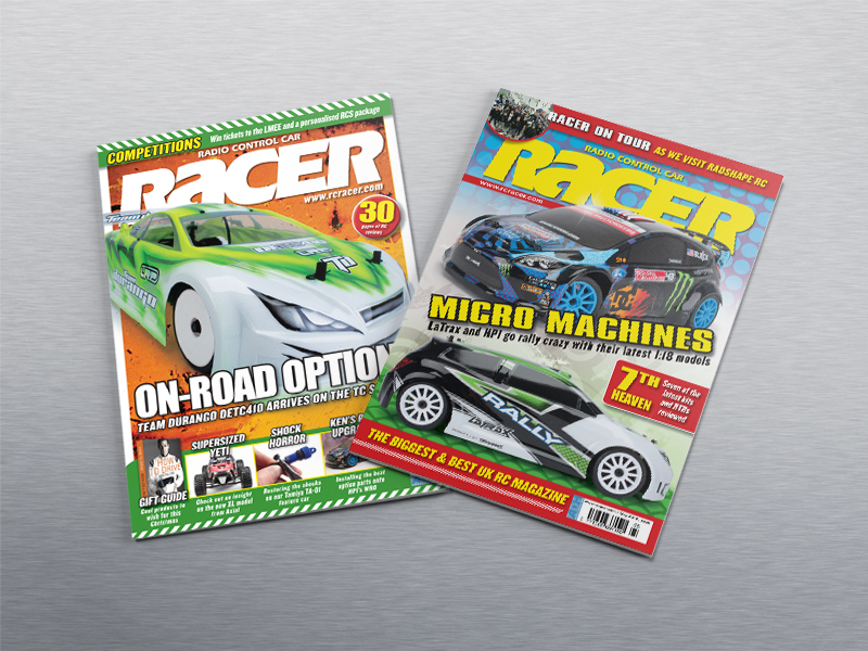 Cover designs for RC Racer Magazine
