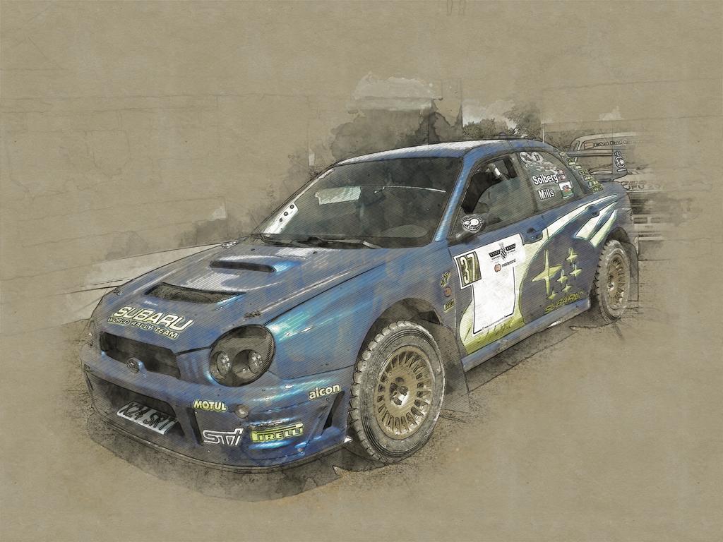 PhotoPhotoshop illustration of Subaru Impreza WRCshop illustration of Subaru Impreza WRC