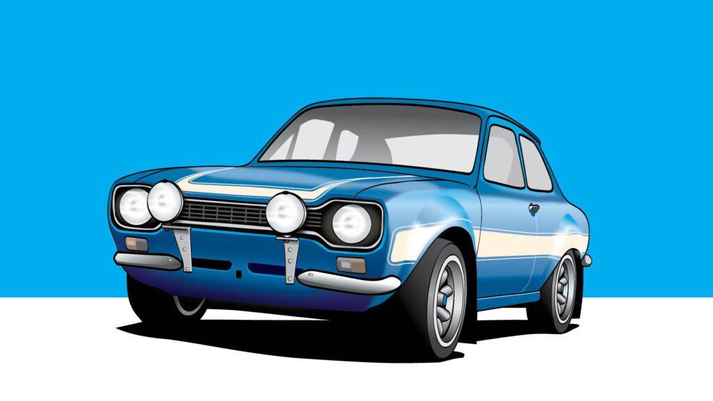 Ford Escort Mk1 RS1600 Vector illustration