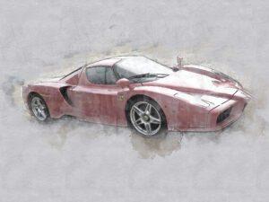 Photoshop illustration of a Ferrari La Ferrari
