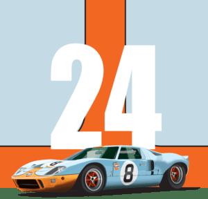 Ford GT40 Vector Illustration