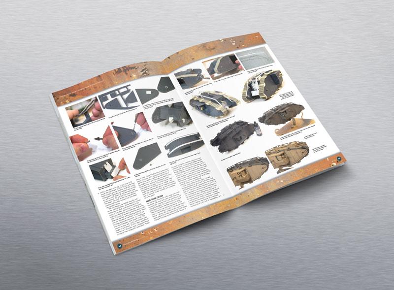 Editorial design for Military Illustrated Modeller Magazine