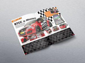 Editorial design for RC Racer Magazine