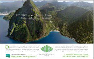 Press advert for RGIntl overseas property developer