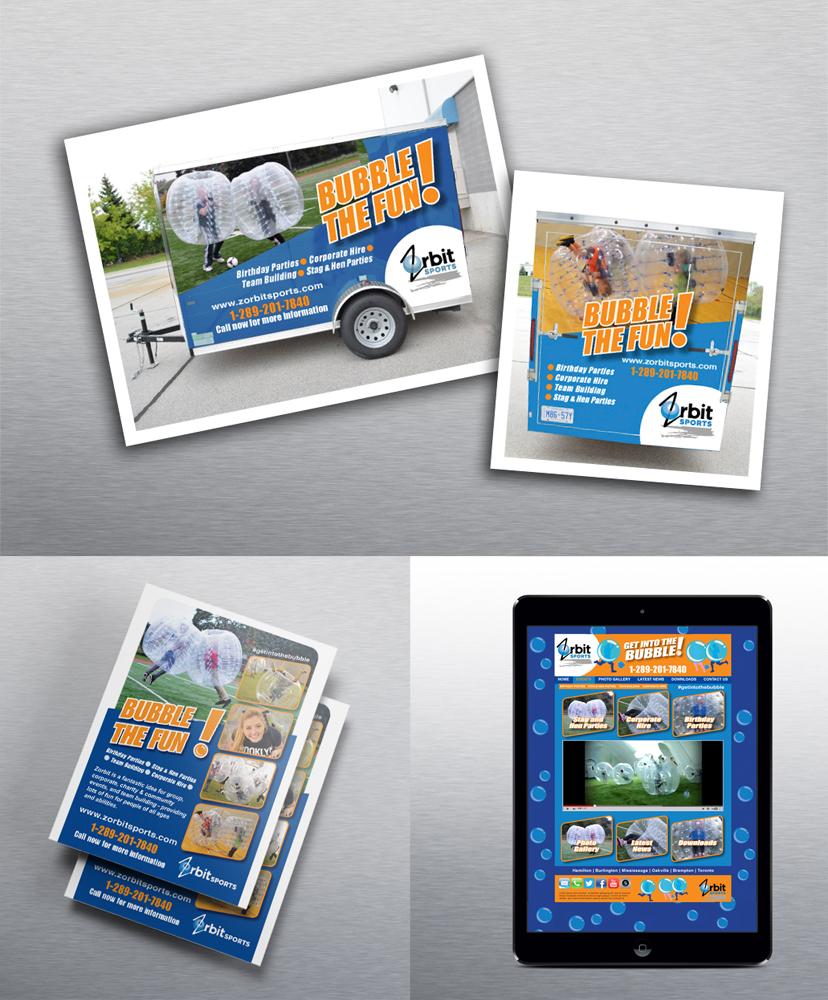 Zorbit Sports Marketing materials