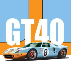 GT40 Illustration